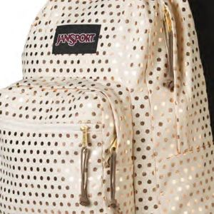 RIGHT PACK EXPRESSIONS BACKPACK GOLD POLKA DOT